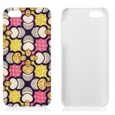 Wax Hollandais iPhone Case: Pink & Yellow